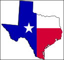 texas flag and map